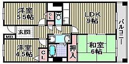 サザンコート泉佐野[7階]の間取り
