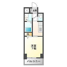 兵庫県尼崎市昭和南通4丁目の賃貸マンションの間取り