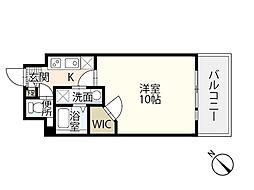 JR山陽本線 広島駅 徒歩24分の賃貸マンション 3階1Kの間取り