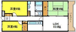 プラムガーデンハイツ[2階]の間取り