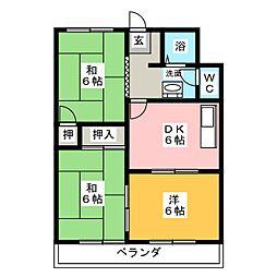 メゾン町田[1階]の間取り