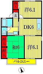 東京都葛飾区東水元6丁目の賃貸アパートの間取り