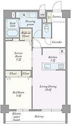 築地MKハウス[0402号室]の間取り
