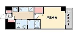エステムコート新大阪VIIIレヴォリス 7階1Kの間取り