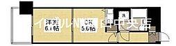 朝日プラザ岡山サウスフロント[7階]の間取り