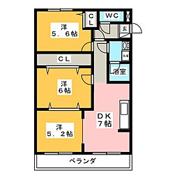 サンモール21[2階]の間取り