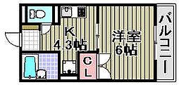 アライブ滝本[2-108号室]の間取り