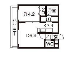 グランドサクセス東札幌[4階]の間取り