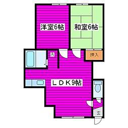 北海道札幌市北区篠路四条7丁目の賃貸アパートの間取り