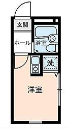 東京都足立区小台1丁目の賃貸アパートの間取り