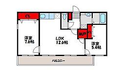第3三洋ビル[307号室]の間取り