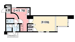 兵庫県西宮市小曽根町4丁目の賃貸マンションの間取り