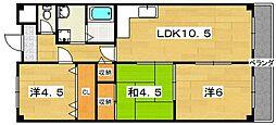 第3クラウンマンション[302号室]の間取り
