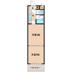 バリュー大和町[5階]の間取り