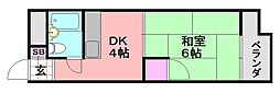 シード平野[505号室]の間取り