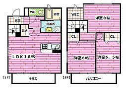 [タウンハウス] 広島県広島市安佐南区西原2丁目 の賃貸【/】の間取り