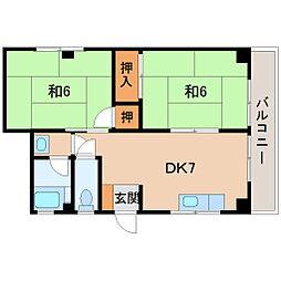 小松原マンション[3階]の間取り