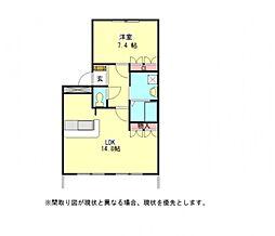 愛知県一宮市光明寺字本郷屋敷の賃貸マンションの間取り