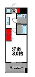 ピュアドーム箱崎ステーション[7階]の間取り