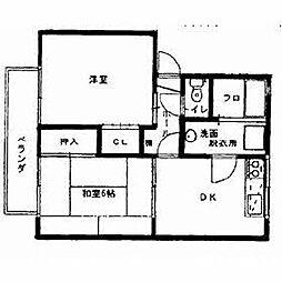 コーポサンシュール[2階]の間取り