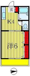 パレド・エスポワール[1階]の間取り