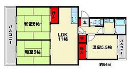 ライオンズビル[3階]の間取り
