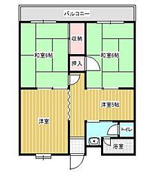 福岡県北九州市小倉北区山門町の賃貸マンションの間取り