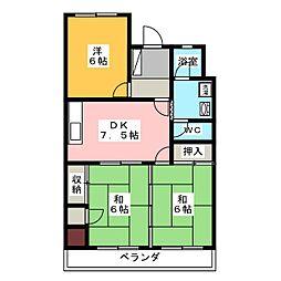 水野ビル[3階]の間取り