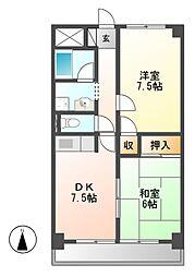 コスモハイム七番町[9階]の間取り