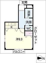 オランジェリーAONO[1階]の間取り