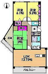リベラス21 9号棟[9階]の間取り