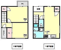 [一戸建] 兵庫県神戸市垂水区山手2丁目 の賃貸【/】の間取り