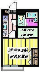 埼玉県さいたま市見沼区春岡3丁目の賃貸アパートの間取り