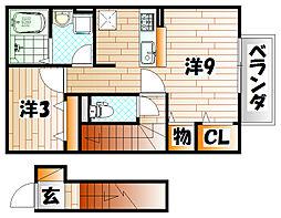 プランドール A棟[2階]の間取り