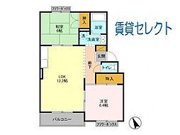 サンパレス横須賀[206号室]の間取り