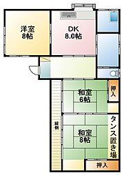 [一戸建] 千葉県大網白里市永田 の賃貸【/】の間取り