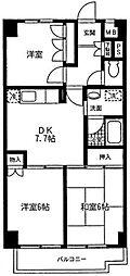 神奈川県相模原市中央区富士見5丁目の賃貸マンションの間取り