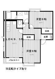 東京都練馬区土支田の賃貸アパートの間取り