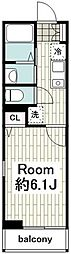 JR横須賀線 保土ヶ谷駅 徒歩15分の賃貸アパート 2階1Kの間取り