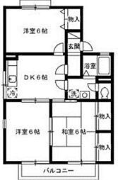 香川県高松市桜町2丁目の賃貸アパートの間取り