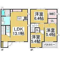 [テラスハウス] 長野県松本市高宮北 の賃貸【/】の間取り