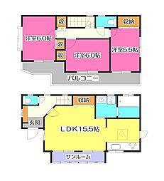 [一戸建] 埼玉県所沢市三ケ島4丁目 の賃貸【/】の間取り
