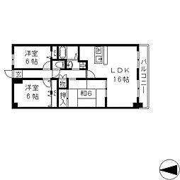 ブランチ913[306号室号室]の間取り