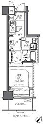 JR総武本線 馬喰町駅 徒歩2分の賃貸マンション 10階1Kの間取り