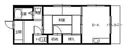 長崎県長崎市銭座町の賃貸マンションの間取り