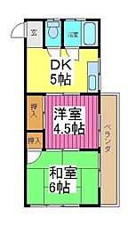 高橋コーポ[3階]の間取り
