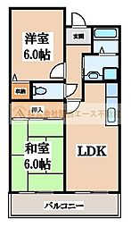 初芝壱番館[1階]の間取り