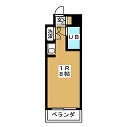 ラフィネ杁中[10階]の間取り