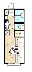 東京都町田市金森1の賃貸アパートの間取り