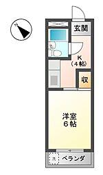 ハイツ岩崎[3階]の間取り